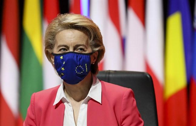 EU-kommissionens ordförande Ursula von der Leyen ska under fredagen leda ett internationellt toppmöte i Rom om hur framtida hälsokriser kan hanteras. Arkivfoto.