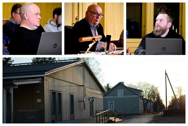 Johan Bärnlund, Kari Häggblom och Jukka Salo ser alla hälsovården som den service där Kaskö i första hand kunde spara.