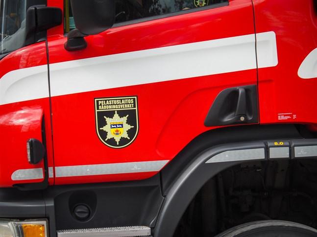 Räddningsverket fick rycka ut strax före kl 19 på torsdagskvällen.