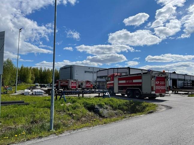 Det var stor utryckning till Lötesvägen i Larsmo på onsdagen.