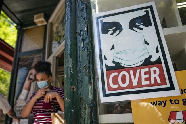 Delstaten New York rapporterar rekordfå smittade. Arkivbild.