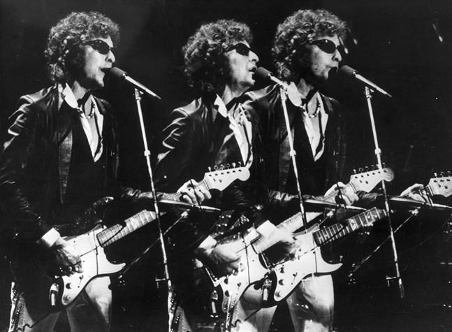 Bob Dylan under konsert på 1970-talet.