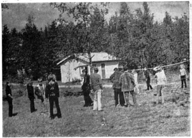 En del av deltagarna som på fritiden utövar volleyboll.