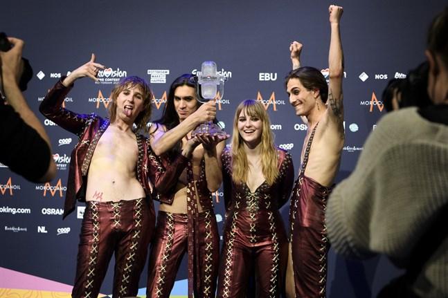 Måneskin från Italien vann finalen av Eurovision Song Contest i Rotterdam.
