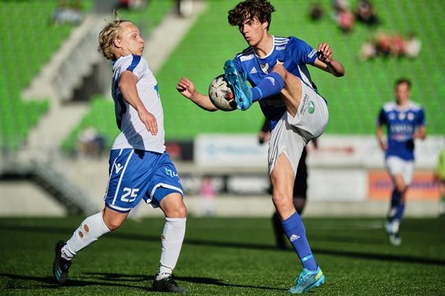 Hannes Hiekkanen, här hemma mot Kemi City FC, satte segermålet mot GBK.