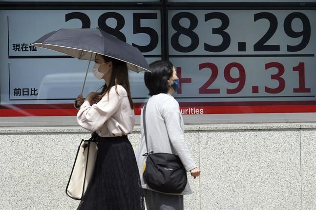 Ledande börser i Asien pekar åt olika håll i onsdagshandeln. Arkivbild.