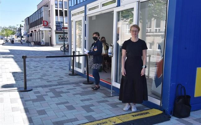 Eva Gädda förhandsröstade för första gången någonsin.