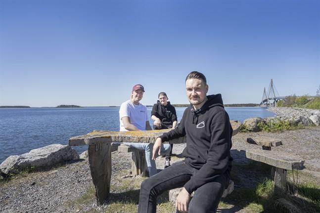Aleksi Puska, Dennis Asplund och Jesper Petell ser fram emot Archipelago Sounds.