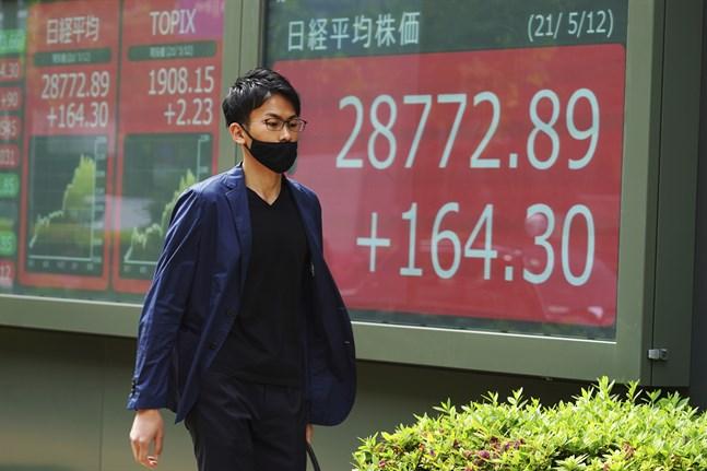 Japans Nikke225-index stiger i den tidigare torsdagshandeln. Arkivbild.