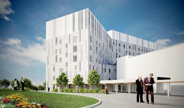 De psykiatriska avdelningarna kommer att flytta till de två högsta våningarna i H-huset.