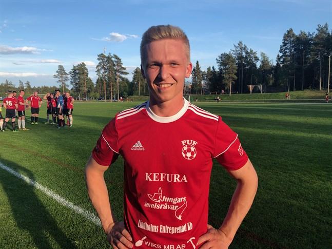 Filip Siren, tvåmålsskytt för Pensala UF.