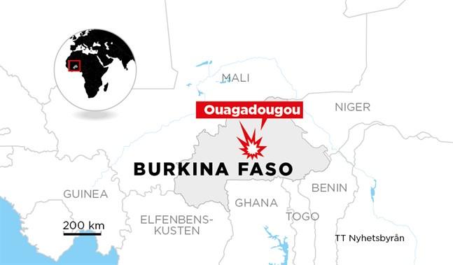 Det västafrikanska landet Burkina Faso.