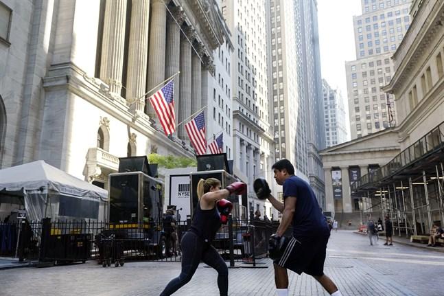 New York-börserna stiger inledningsvis. Arkivbild.