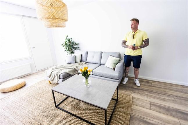 Sami-Jaakko Konttas vill att hans lägenheter ska vara snygga, lite lyxiga och genast kännas som ett hem.