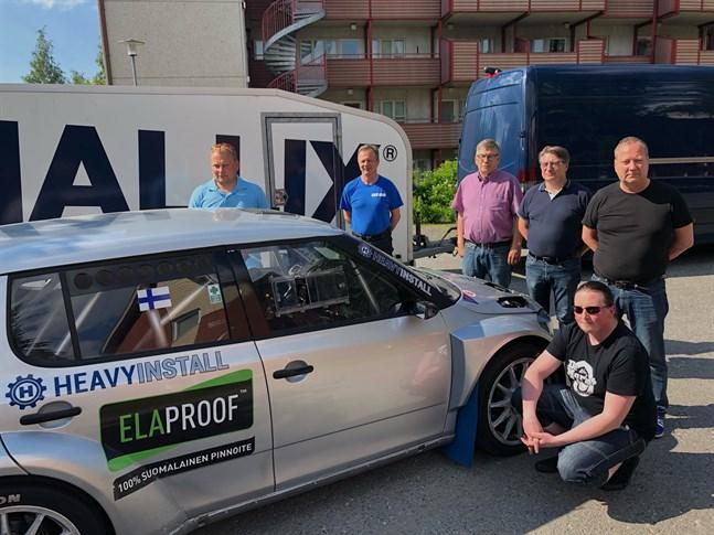 Mathias Silfvast, Jarmo Autio, Anssi Räikkönen, Jyrki Lampela, Jarmo Pöntiskoski och Tanu Jänkä från Gamlakarleby Sportbilister informerade om höstens FM i rally.
