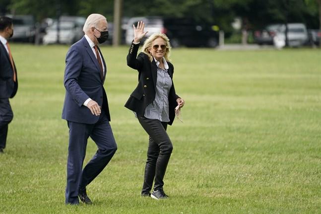USA:s presidentpar Joe och Jill Biden.