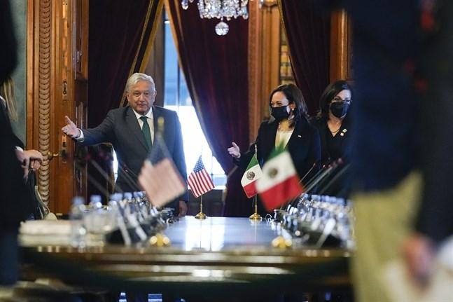 Mötet mellan Mexikos president Andrés Manuel Lopéz Obrador och USA:s vicepresident Kamala Harris ägde rum tisdag 8 juni.