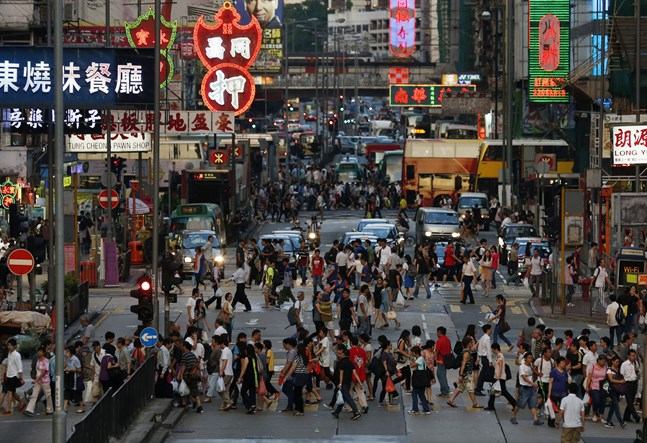 Filmer som kan utgöra en risk för den nationella säkerheten ska nu granskas i Hongkong. Arkivbild.