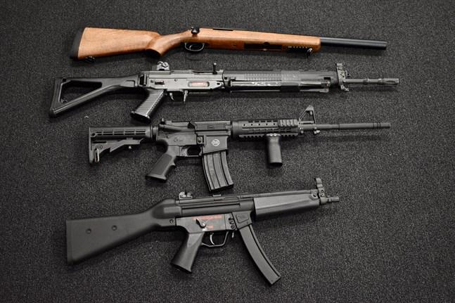 Leksaksvapen kan se väldigt verkliga ut. Arkivbild.
