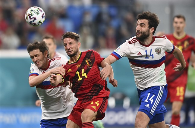 Belgien mötte Ryssland i Sankt Petersburg på lördagskvällen.