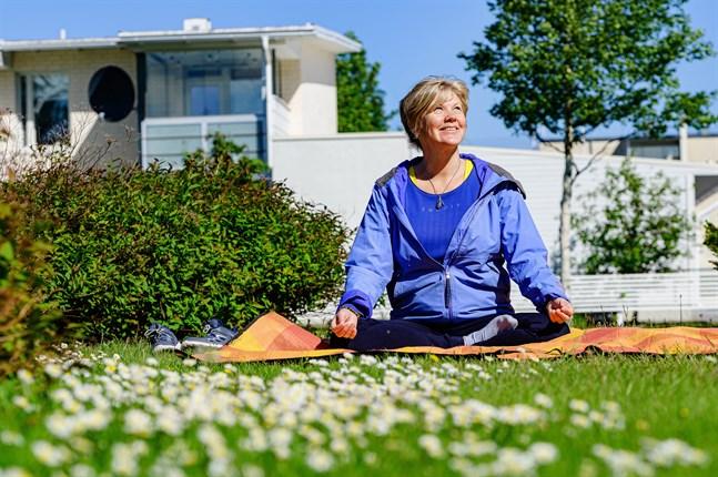 Annette Parkkinen håller gärna sina coachningsträffar utomhus.