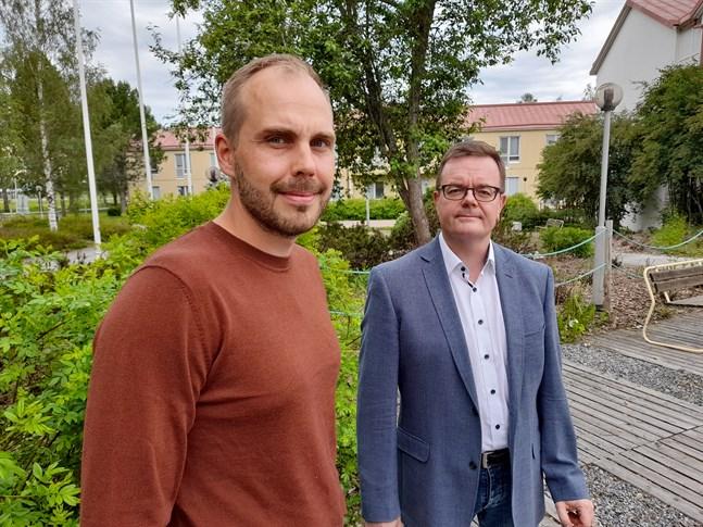 Martin Norrgård och Ulf-Erik Widd vill att Vörå skid-och friluftscentrum blir det bästa motionsområdet i västra Finland.