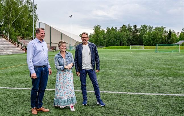 Kenneth Mörk, Nina Brännkärr-Friberg,  Björn Anderssén. Project Liv arenan. 18.6.2021.