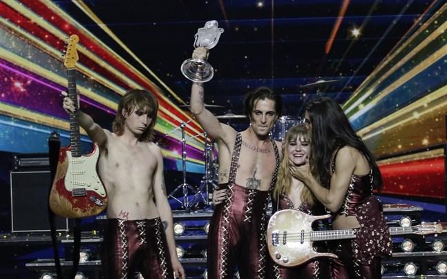 Publiken såg Måneskin ta hem segern i Eurovision.