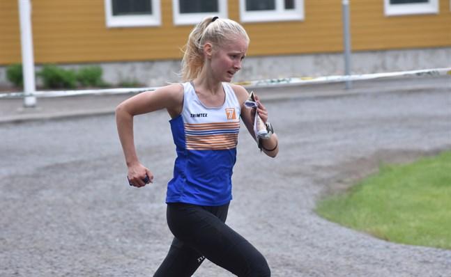 Olivia Hahn representerade Solf IK ännu förra säsongen men orienterar nu för OK77.