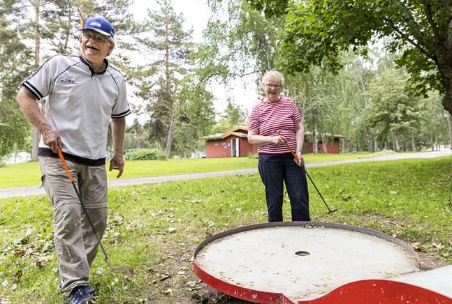 Joukko och Pirjo Juntunen har besökt Top Camping i Vasa många gånger.