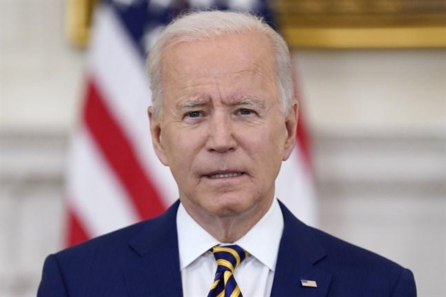 USA:s president Joe Biden ville att 70 procent av befolkningen skulle ha fått sin första vaccindos före den 4 juli. Arkivbild.