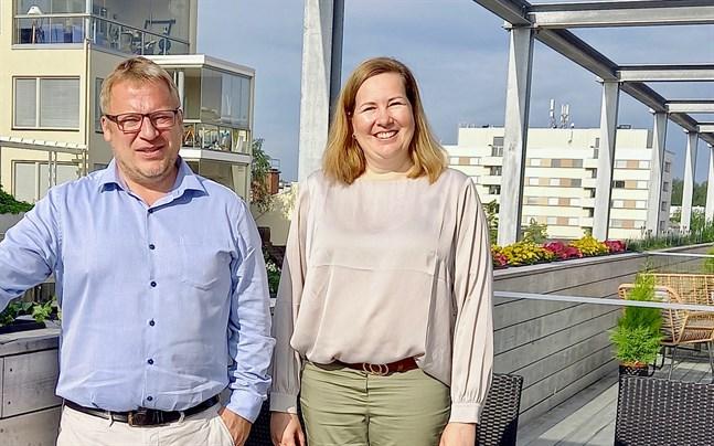 SAm Stenberg och Åsa Björkman gläds åt att planeringen för Irajakvarteret nu kommer i gång.