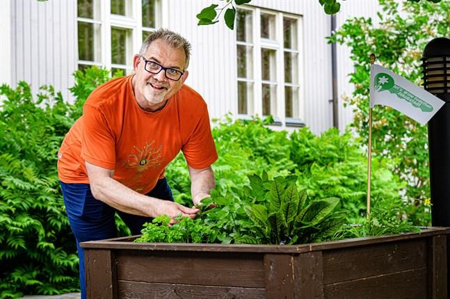 """Hans Kreutzer har startat projektet """"Let's grow together Jakobstad""""."""