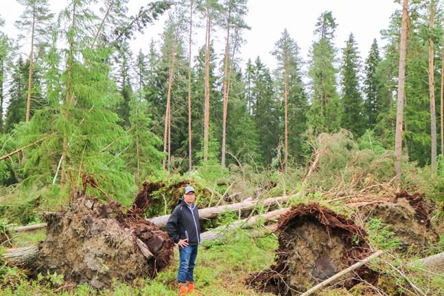 Anders Holm blev överraskad av stormens enorma kraft.