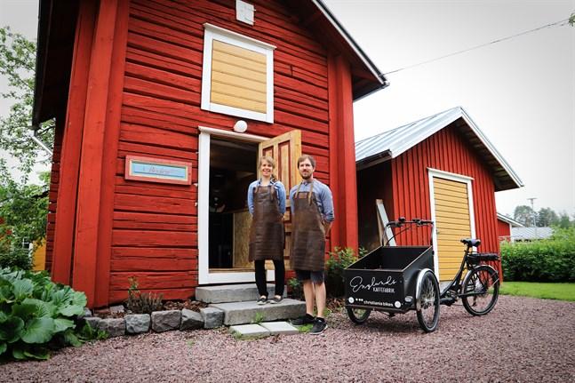 Silvia och Anders Englund har nyligen startat företaget Englunds kaffefabrik.