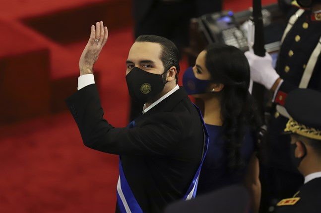 El Salvadors president Nayib Bukele tidigare i juni.