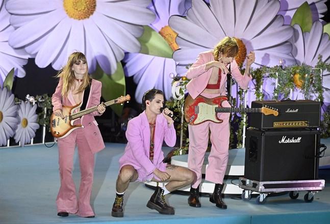 Måneskin uppträdde på premiären av Lotta på Liseberg i söndags. Arkivbild.