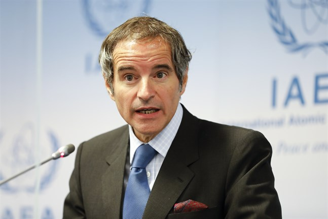IAEA:s chef Rafael Grossi. Arkivbild.