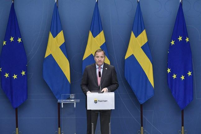 """Stefan Löfven uteslöt inte en """"stor koalition"""" med Socialdemokraterna och Moderaterna i fall läget skulle bli riktigt allvarligt."""