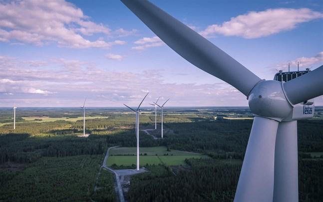 I Norrskogen, Närpes, bygger EPV Vindkraft en vindpark som årligen ska producera mer än 300 gigawattimmar el när den står klar år 2023.
