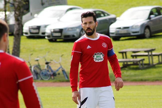 Vanja Pobor förde upp Kaskö IK i ledning i matchen mot IK Myran – men det räckte inte för seger.