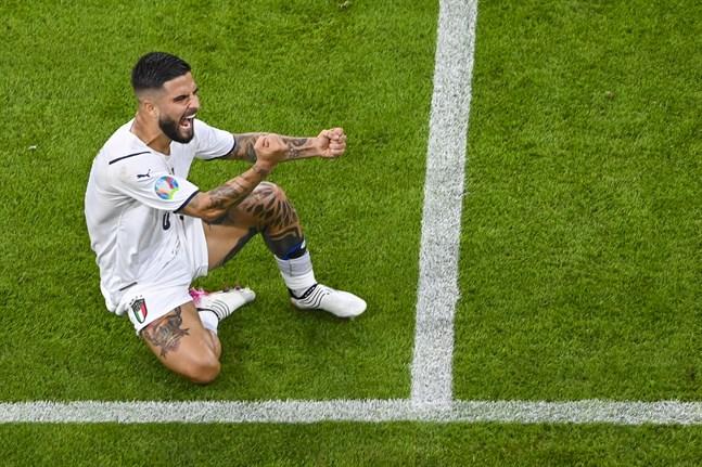 Lorenzo Insigne bjöd på ett delikat mål i Italiens seger i kvartsfinalen mot Belgien.