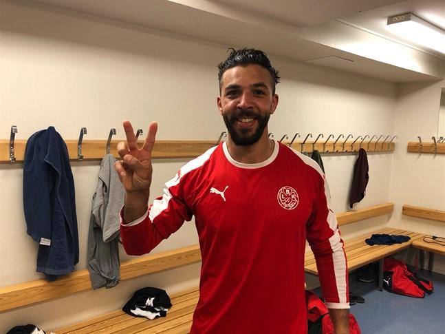 Rachid El Kadiri, två mål inom tre minuter.