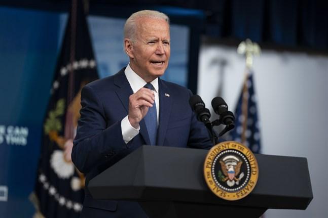 USA:s president Joe Biden uppmanar amerikanerna att vaccinera sig.