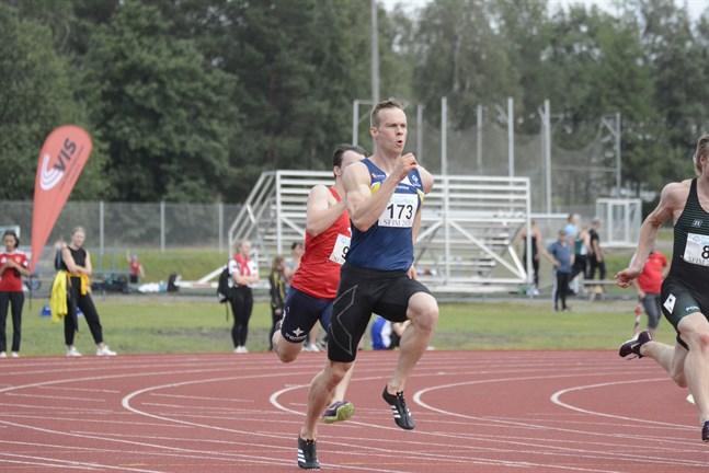 Aleksi Ala-Prinkkilä, IF Kraft, tog sig vidare från försöken till finalen på 200 meter.