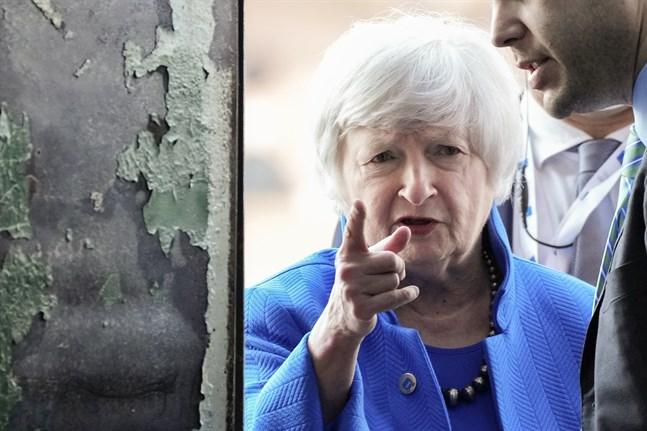 USA:s finansminister Janet Yellen besöker Bryssel under måndagen för att träffa EU-ländernas finansministrar. Arkivfoto.