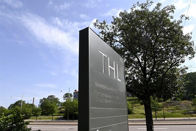 LKS 20210714 LKS 20210626 Terveyden ja hyvinvoinnin laitoksen THL:n kyltti Helsingissä 22. kesäkuuta 2021. LEHTIKUVA / VESA MOILANEN