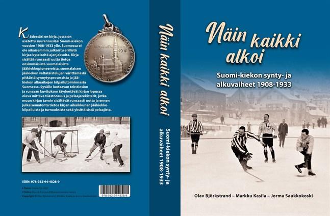 """Boken """"Näin kaikki alkoi"""" berättar ingående om den finländska ishockeyns första årtionden."""