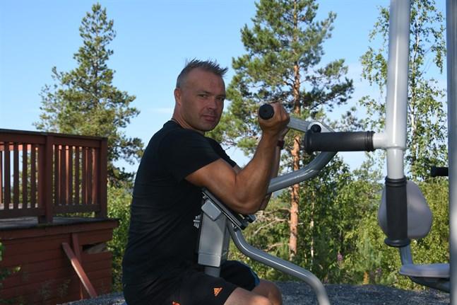 Ordförande för Länken ski, Janne Smeds gläds åt att allt fler besöker Bötombergen – året runt.