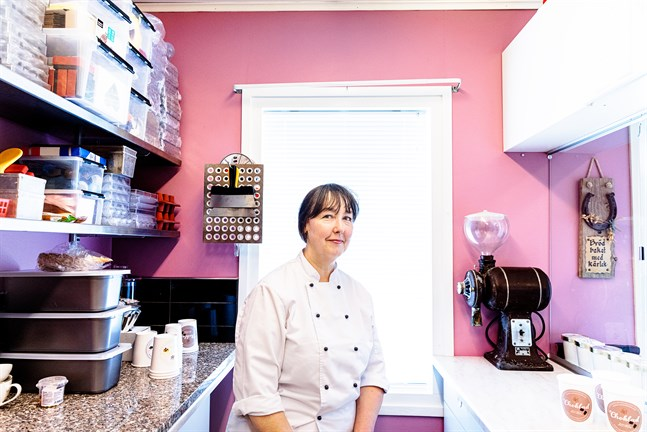 Gunilla Norrlin är grundaren av Maxmo hembageri, som är mest känt för chokladtårtan.
